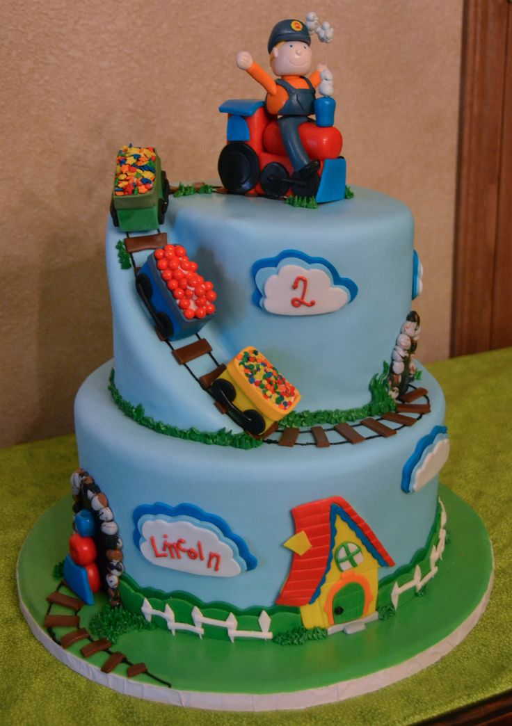 Choo Choo Train Little Boy 2nd Birthday Party Train Cake