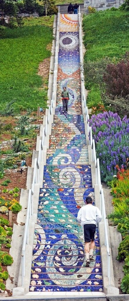 Mosaic Steps: 16th Ave (between Moraga St & Noriega St) San Francisco, Californi