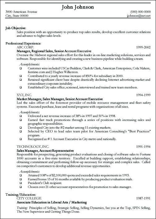 Resume Samples For Professionals - Resume Sample