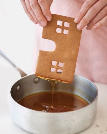 The secret to sticking a gingerbread house together! Will have to try this – we have always used royal icing.