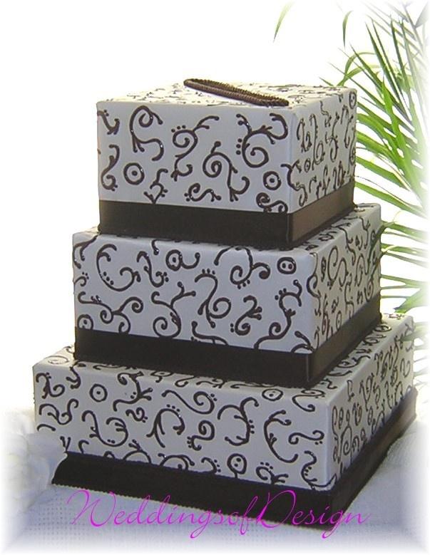 Wedding Card Money Box CAKE DUPLICATION Hand by