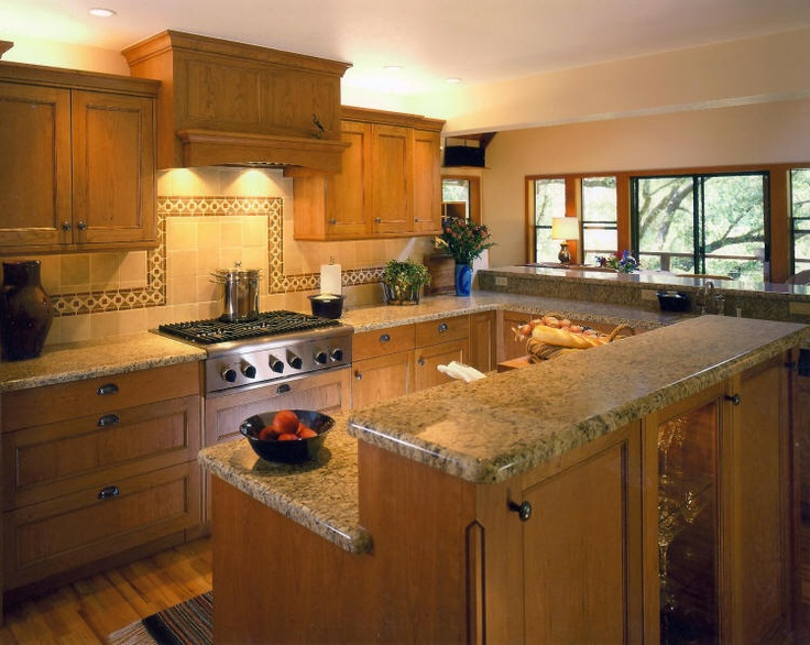new gold granite countertops looks good with