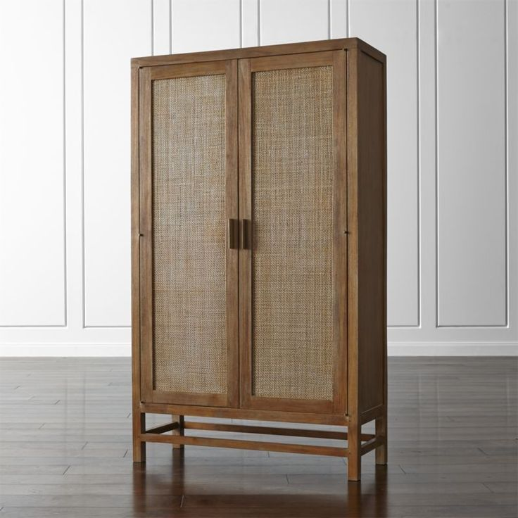 Blake Grey Wash 2 Door Cabinet Crate And Barrel