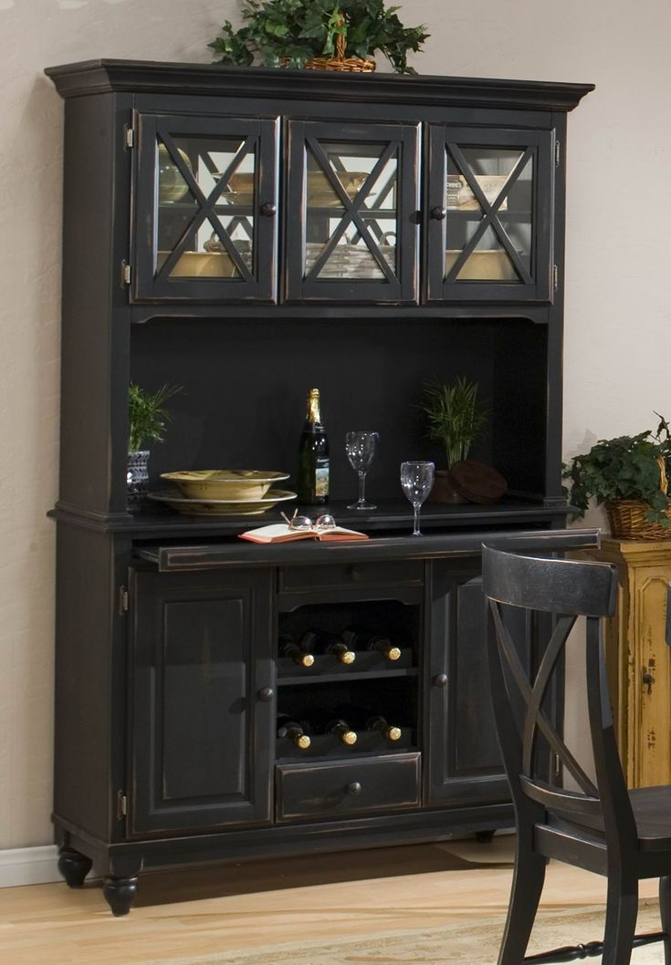 Best 25 Black Hutch Ideas On Pinterest Painted China