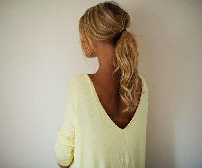 1000 Ideas About High Curly Ponytail On Pinterest High