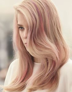 Subtle pink.