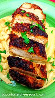 Blackened Chicken with Cajun Fettuccine Alfredo…double spicy and darn tasty!