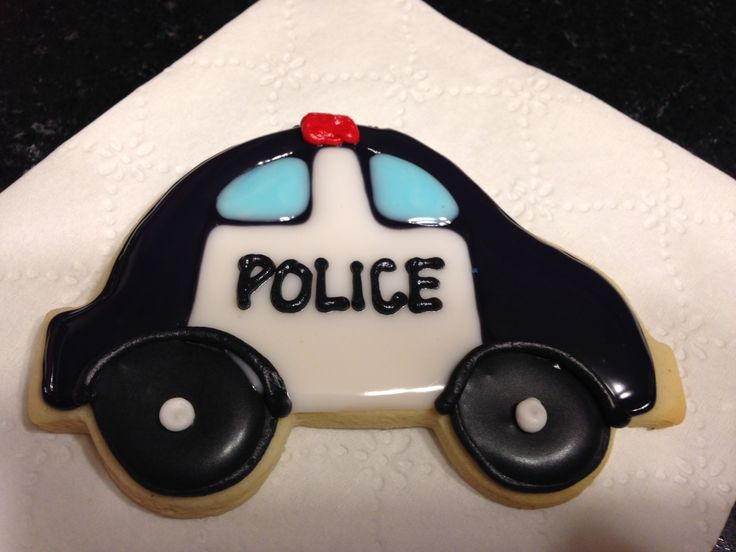 Police Car Cookies Pinterest Police Cars Cookie