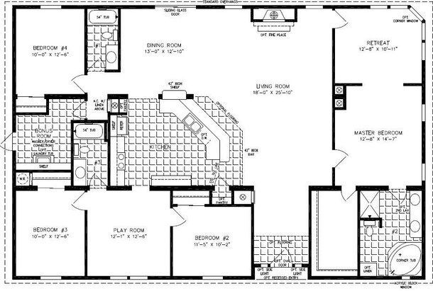 4 Bedroom 3 Bath Modular Home Floor Plans Bedroom Style Ideas