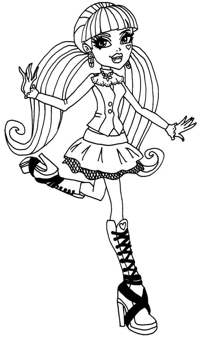 Draculaura Monster High Coloring Page Coloring Pages Of