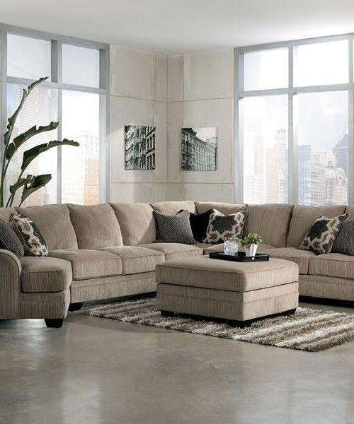 Extra Large Fabric Sectional Sofa SOFAS Amp FUTONS