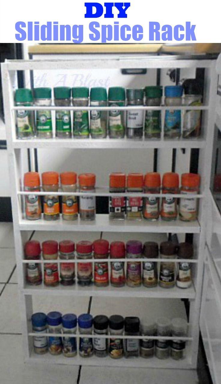 My New Sliding Spice Rack DIY Cabinets Tutorials And