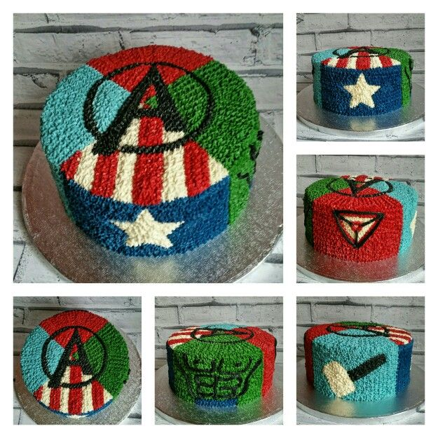 Avengers Buttercream Cake Cake Ideas Pinterest An