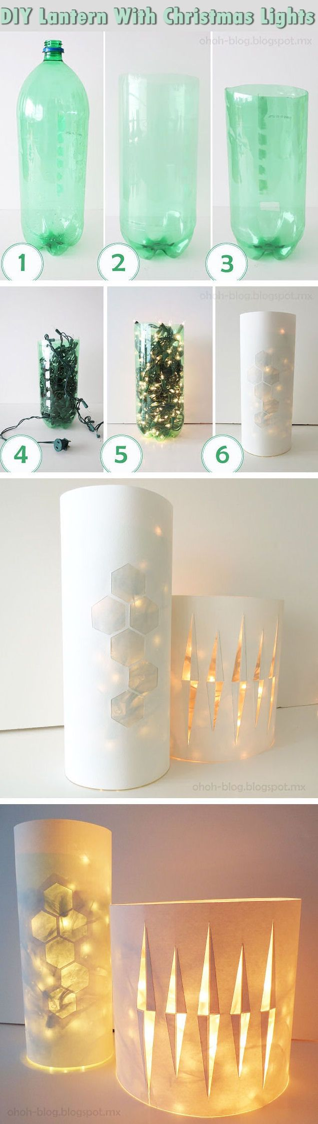 DIY Lantern With Christmas Lights Pictures, Photos, and