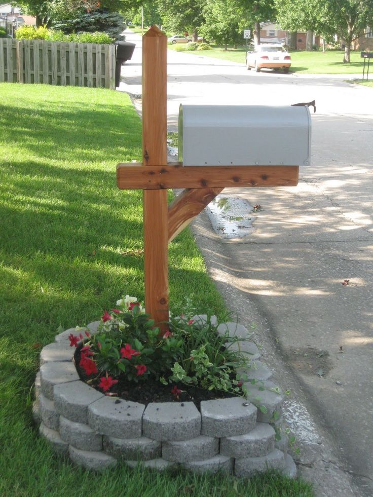 How to make your street side mailbox look pretty. Add a