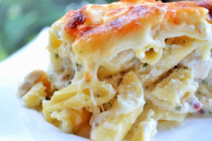Three Cheese Chicken Alfredo Casserole – This creamy, decadent casserole is the perfect comfort food