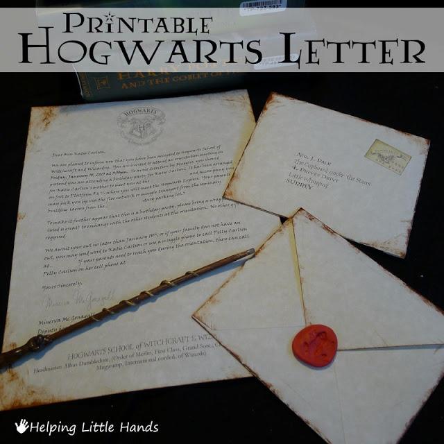 Helping Little Hands Printable Hogwarts Acceptance