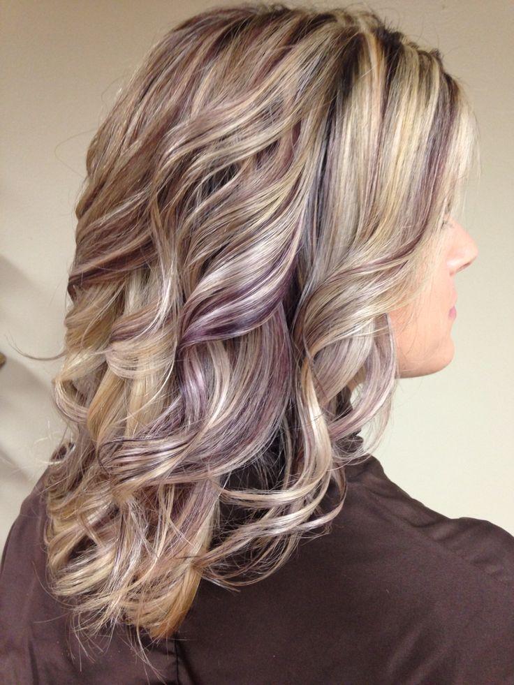 Beautiful Earthy Purple Lowlights Hair By Nikki Speranza
