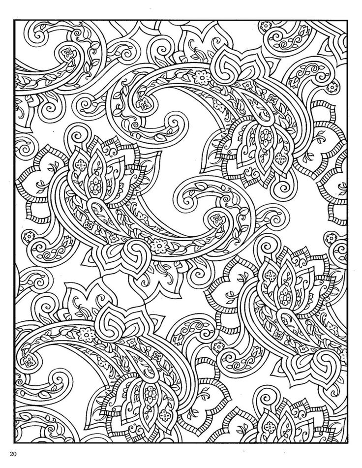 Dover Paisley Designs Coloring Book Colouring Pages