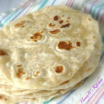 EASY HOMEMADE FLOUR TORTILLAS 3 cups flour 1 tsp. salt 1/3 cup vegetable oil 1
