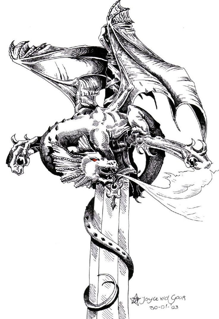 dragonswordtattooimagedeviantartmorelikehalf