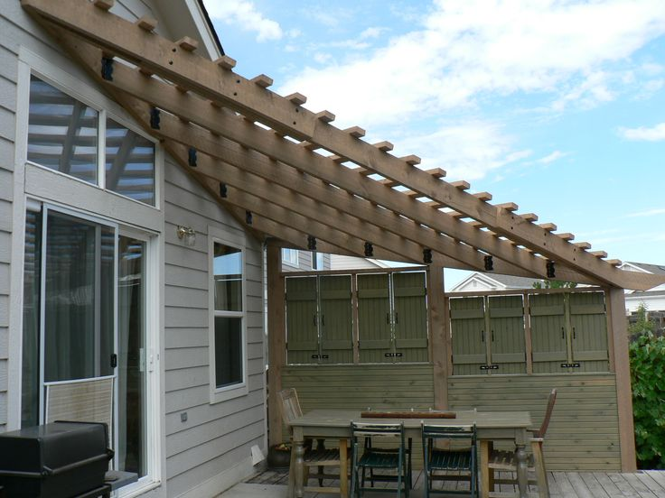 Triangle Pergola With Privacy Screen Pergolas