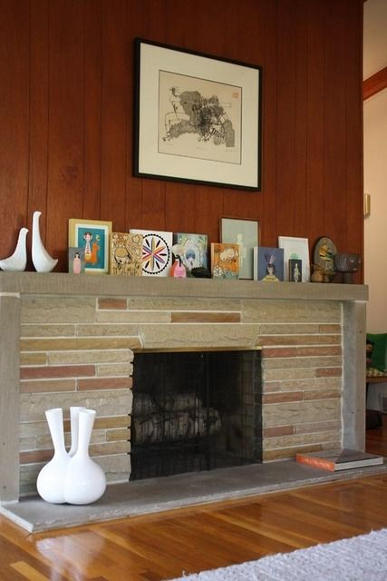 17 Best Images About Mid Century Modern Fireplace On