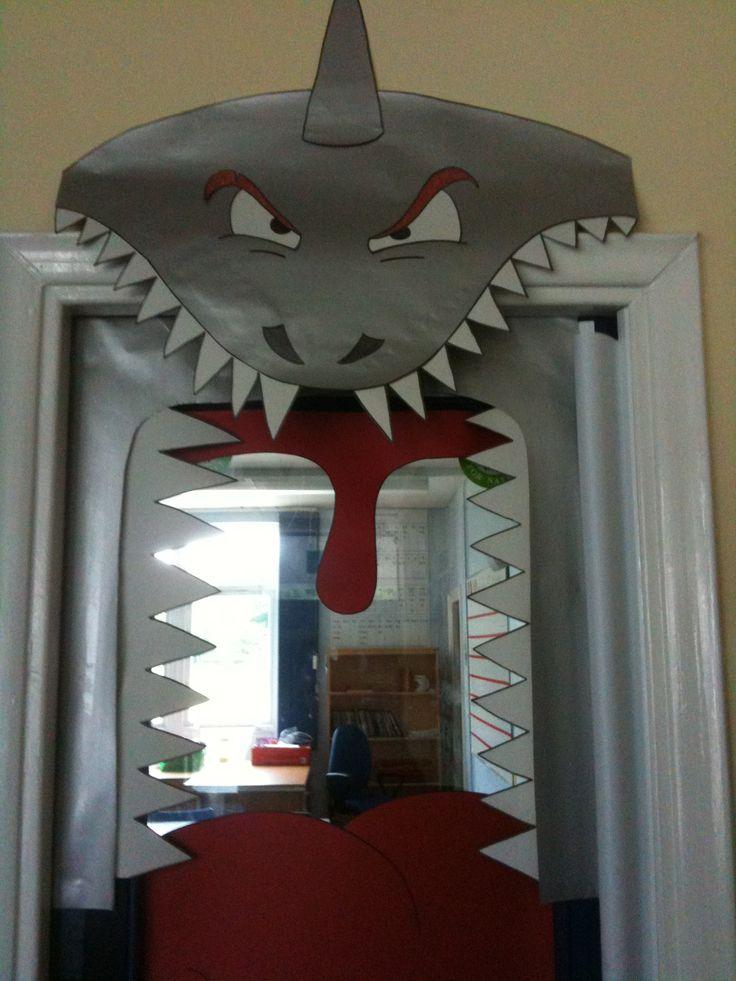 School Classroom Door Shark Theme Project Kids Birthday