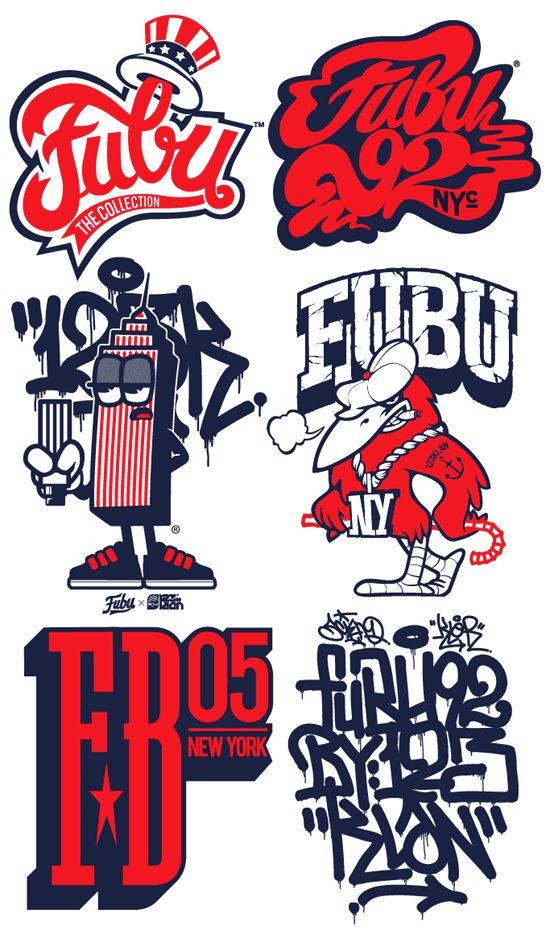 123KLAN Fubu logos streetwear graffiti in