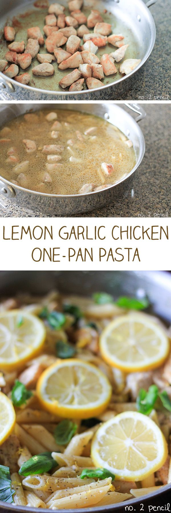 One-Pan Lemon Garlic Chicken Pasta…..I thought this was really good, takes about a half hour, nice you only have to dirty one
