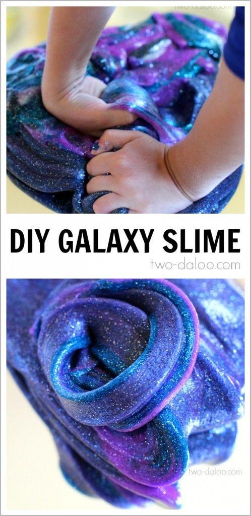 Night Sky Activities for Preschool: Galaxy Slime – Twodaloo