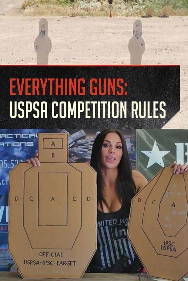 Shooting Competitions Rules for USPSA Competition