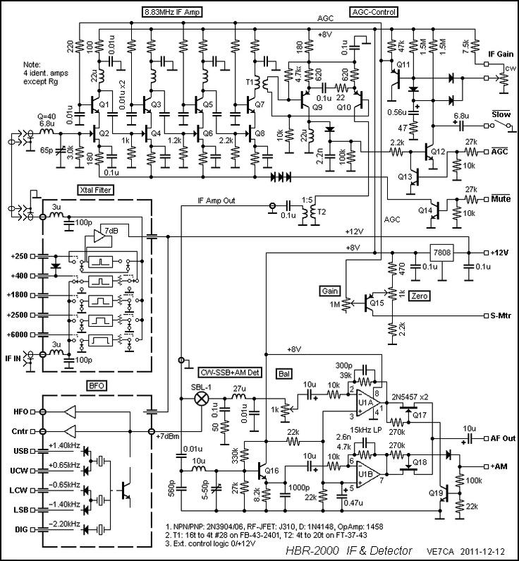 HBR2000 IF Detector Schematic Amateur Radio HBR2000