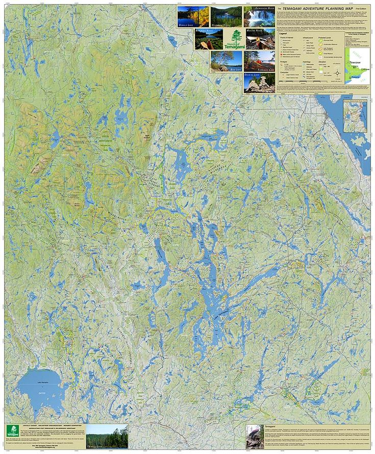 Friends of Temagami Map Temagami Pinterest Maps and