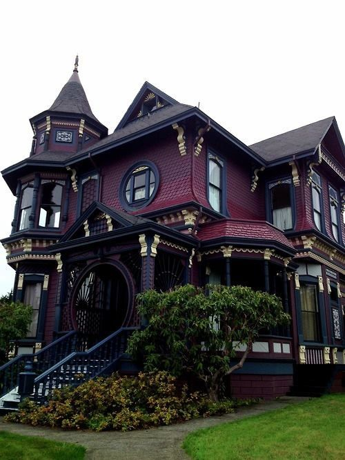 My favorite purple Abandoned Dream Victorian Home! in Missouri   Victorian House, cool paint colors!