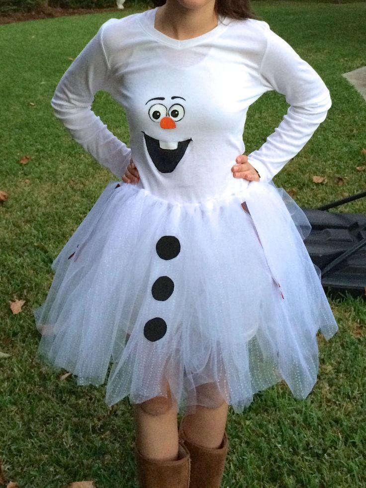 DIY Olaf costume for teen girls Creative and Cute
