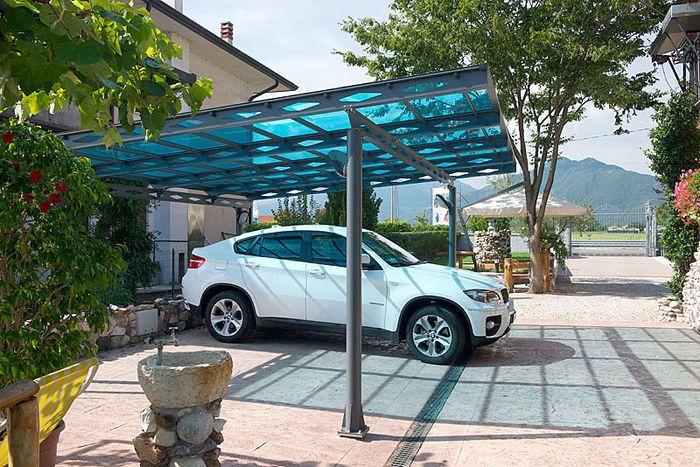 Carport with a flat roof polycarbonate Carport / Garage