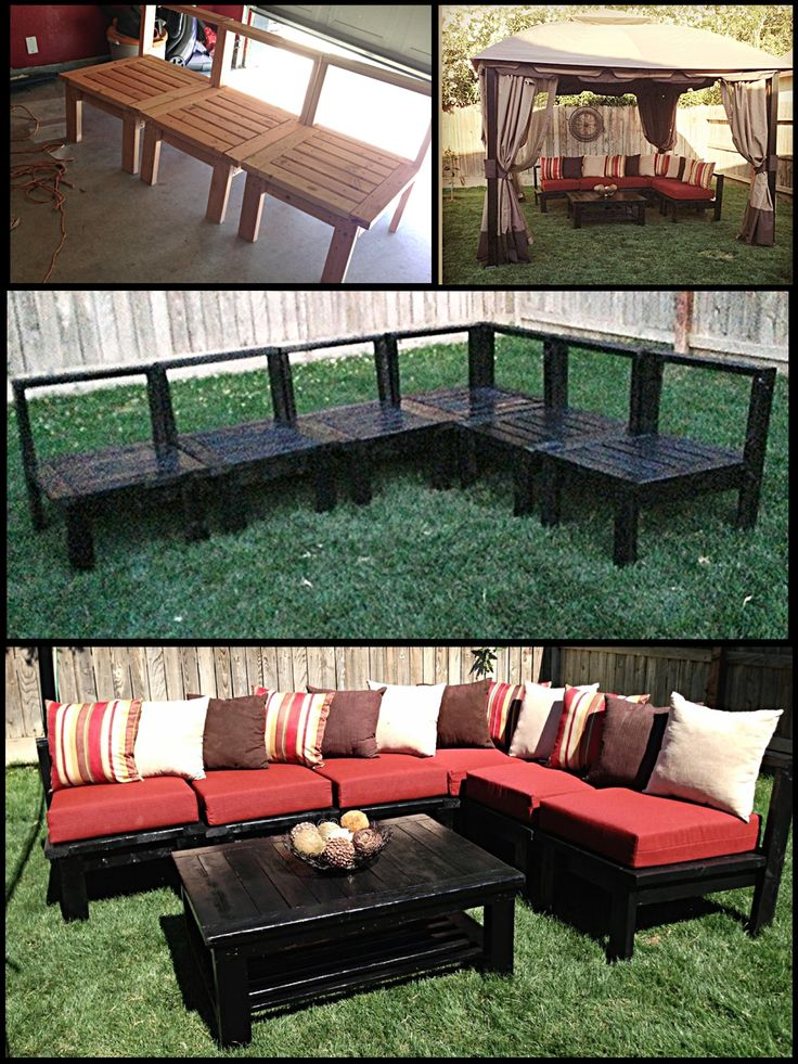 DIY Patio Furniture My Husband Made This Sectional Sofa