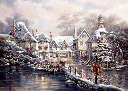 Christmas Cove By Carl Valente Winter Wallpaper ID