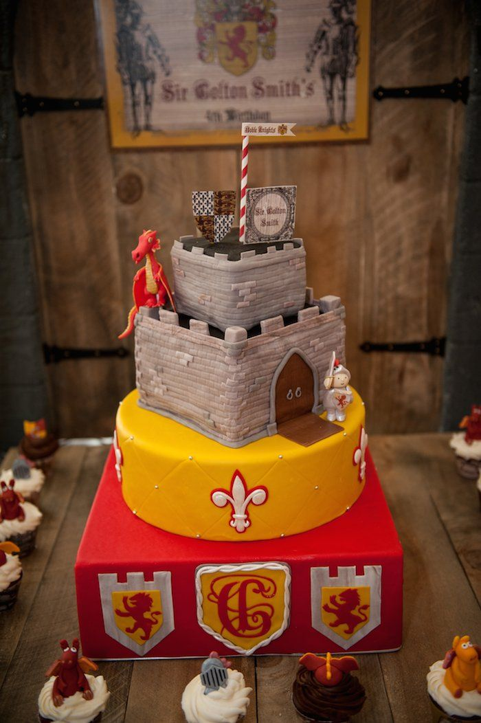 Knight And Dragon Themed Birthday Party Via Karas Party
