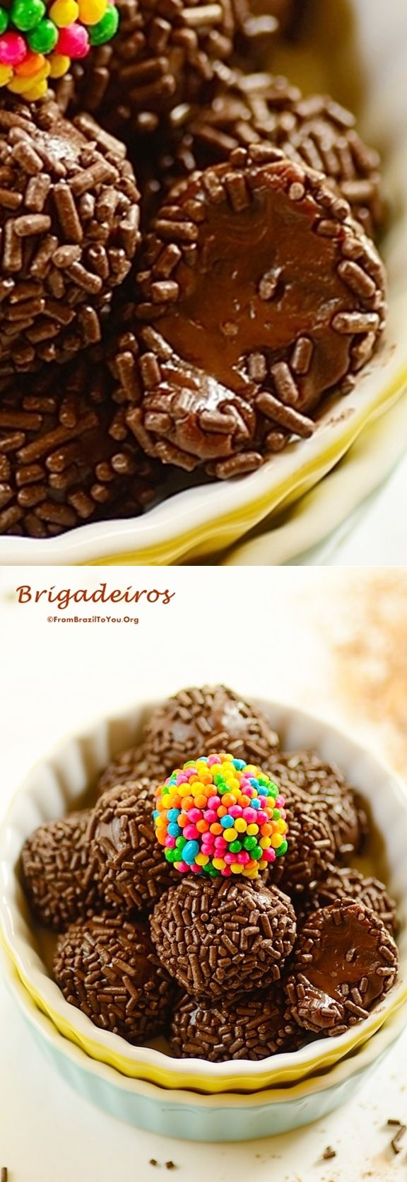 Brigadeiros (prepared either in the MICROWAVE or on the STOVETOP) — Brazil's famous chocolate fudge balls…Five-ingredient,