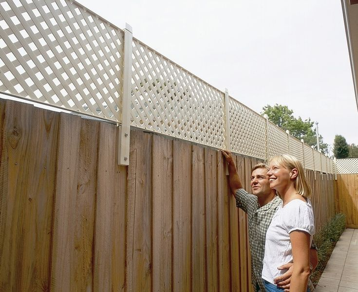 backyard privacy fence extension – Google Search