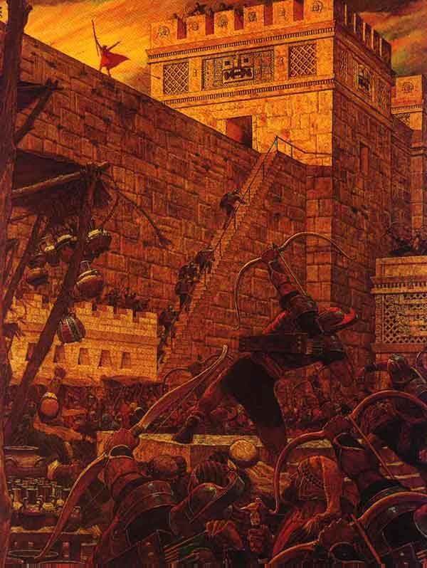 Samuel The Lamanite On The Wall Predicting The