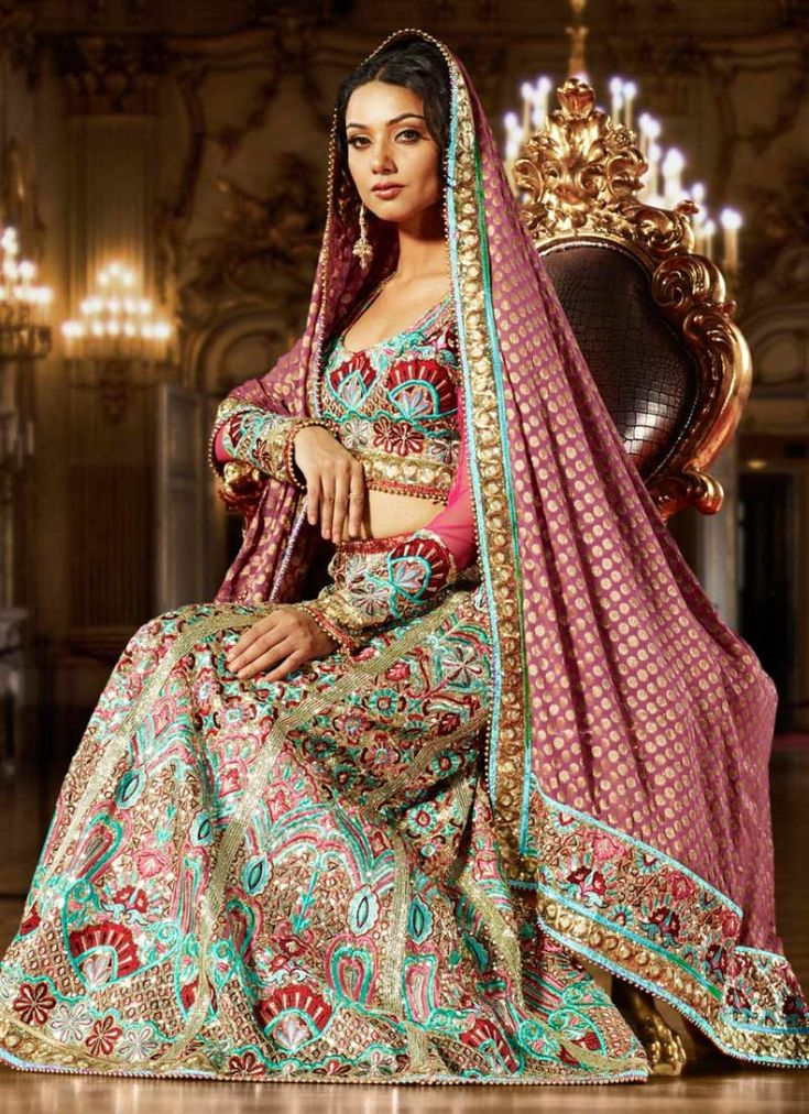 Long sleeve bridal lehenga. Indian things Pinterest
