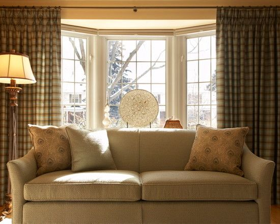 Traditional Living Room With Traditional Bay Window