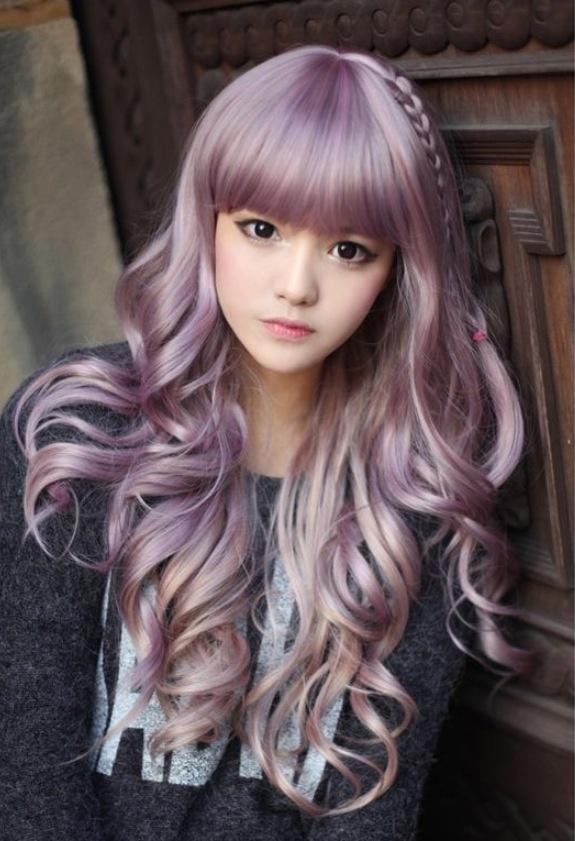 Lilac hair; anime eyes Hair & Makeup Sprightly Spring