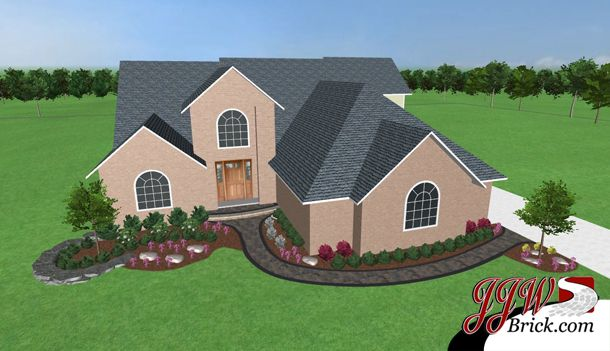 Front Yard Landscaping Design In Shelby Township Michigan