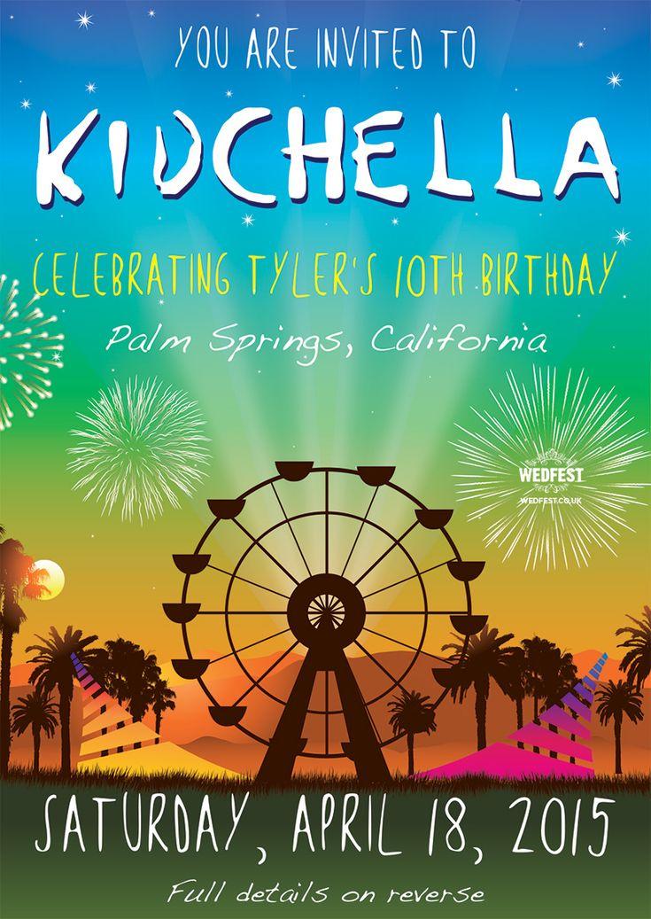 KIDCHELLA Birthday Party Invitation Httpwwwwedfestco
