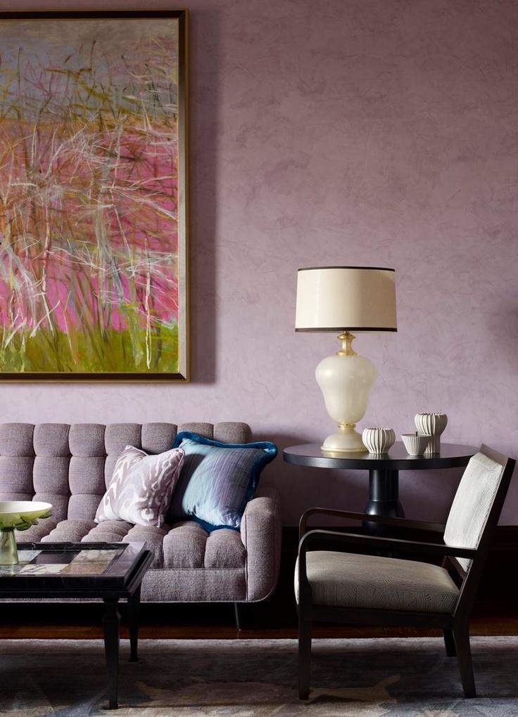 glamorous mauve color living room group