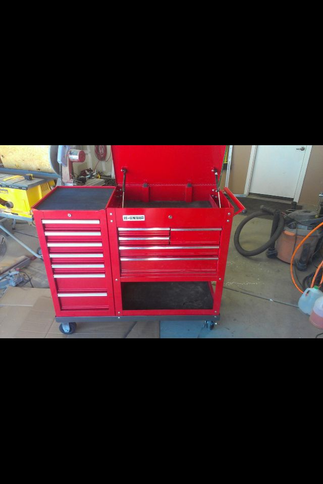 Hf Tool Cart W Side Box Tool Boxes Workstations